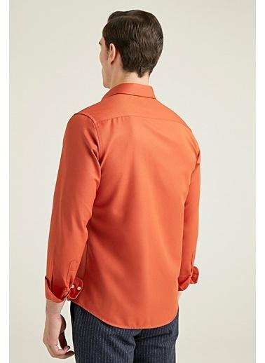 TWN Slim Fit Oxford Gömlek Oranj